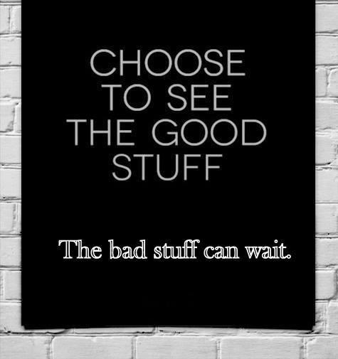 the bad stuff can wait