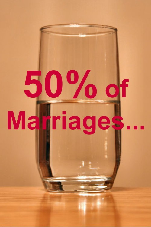 50% of Marriages..