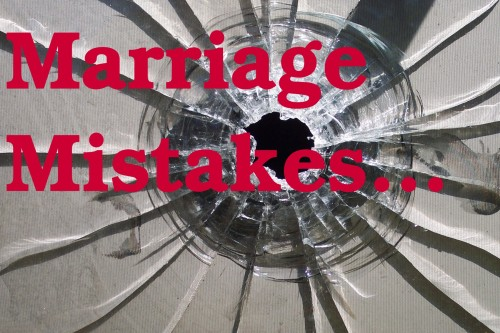 marriage mistakes