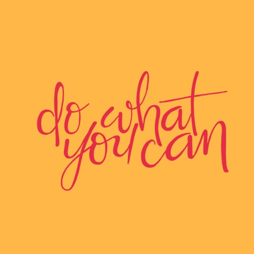 dowhat you can