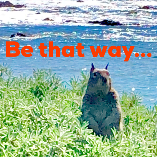 Be that way